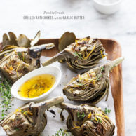 Grilled Artichokes with Garlic Butter and Friday Faves
