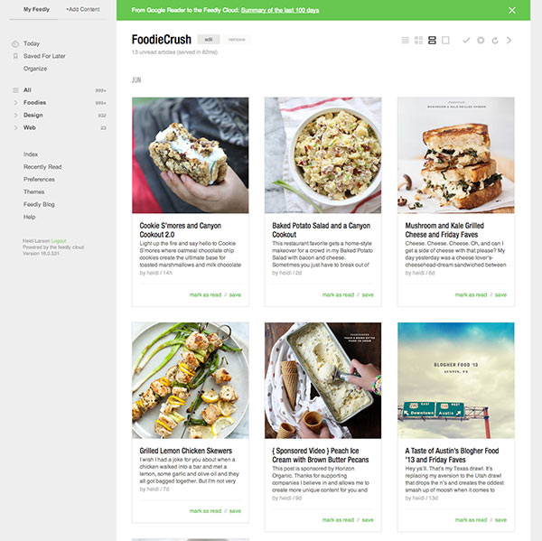 Feedly-Foodiecrush