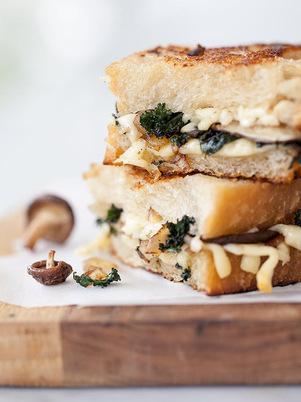 Mushroom and Kale Grilled Cheese and Friday Faves - foodiecrush