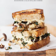 Kale and Mushroom Grilled Cheese | foodiecrush.com