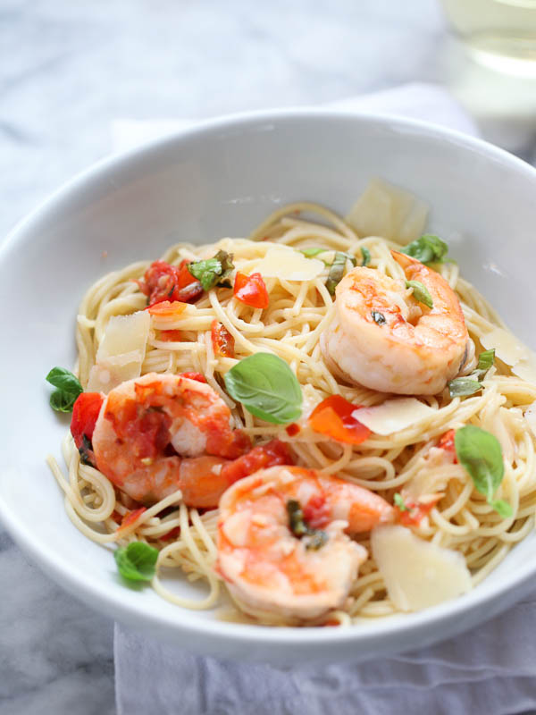 Shrimp Scampi Pasta - foodiecrush