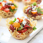 Heirloom Tomato Frico Cups and a Giveaway