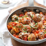 Tabasco Chicken Meatballs in a Spicy Tomato and Apricot Sauce