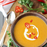 5 Ingredient Thai Pumpkin Soup | foodiecrush.com