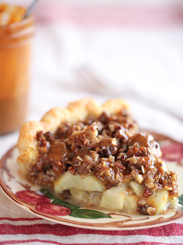 Caramel Apple Pie with a crumble crust is a new family fave | FoodieCrush.com