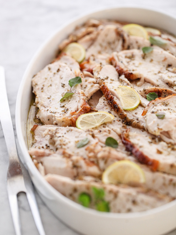 Why I Cook: Roasted Turkey Breast with Lemon and Oregano - foodiecrush