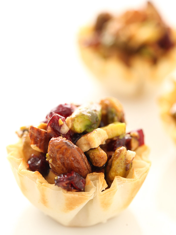 Cranberry Baklava Cups