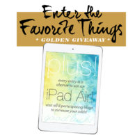My Favorite Things plus iPad Air Giveaway