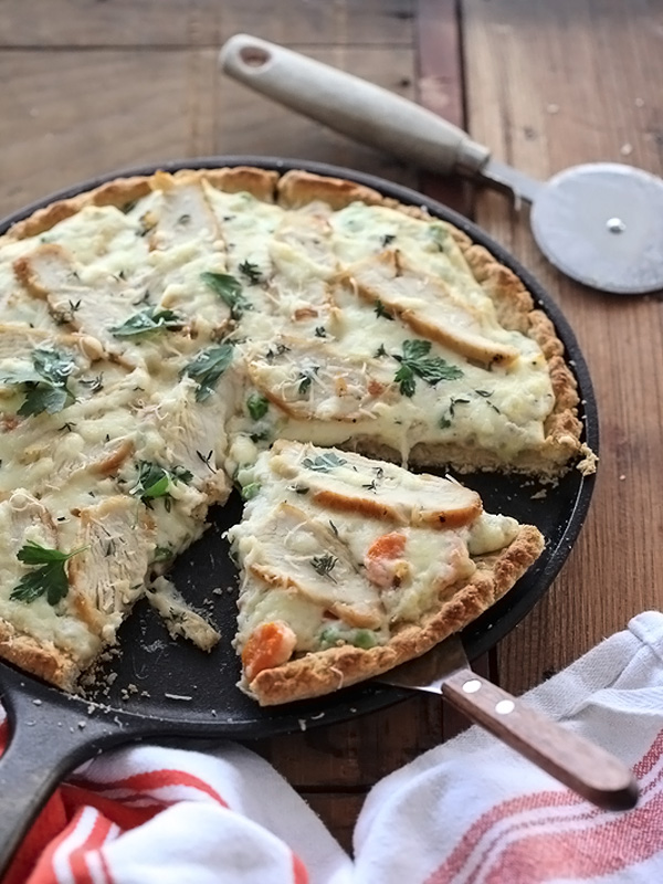 Chicken Pot Pie Pizza
