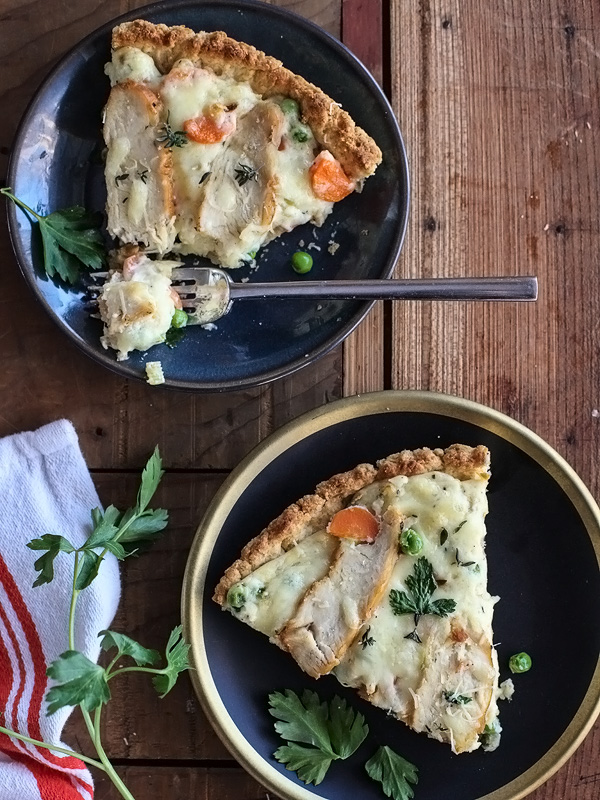 Chicken Pot Pie Pizza foodiecrush.com
