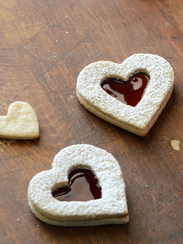 Pecan Linzer Cookies with Cherry Filling from An Edible Mosaic