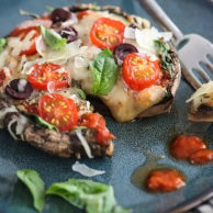Pizza Stuffed Portobello Mushroom | foodiecrush.com