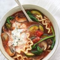Slow Cooker Vegetarian Lasagna Soup foodiecrush.com
