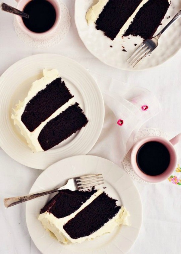 Chocolate Stout Cake with Whipped Vanilla Bean Frosting II Sweetapolita