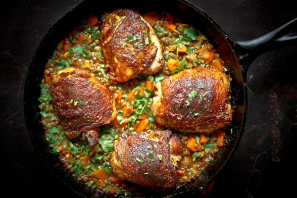 Crispy Berbere Chicken with Ethiopian Lentils II Feasting at Home