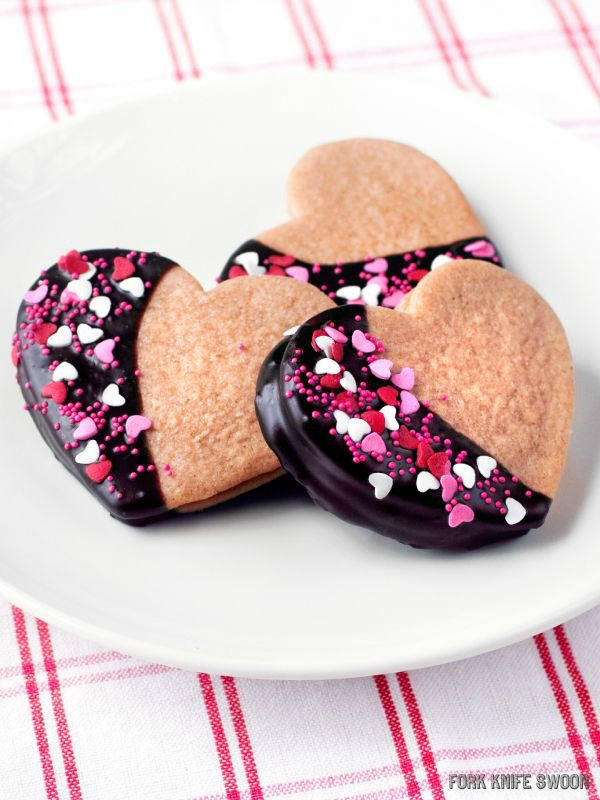 Chocolate Dipped Peanut Butter Sandwich Cookies II Fork Knife Swoon