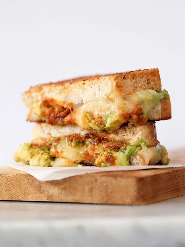 Garlicky Avocado Grilled Cheese with Tomato Pesto ...