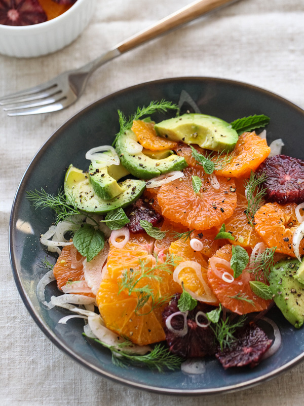 Citrus Fennel and Avocado Salad - foodiecrush