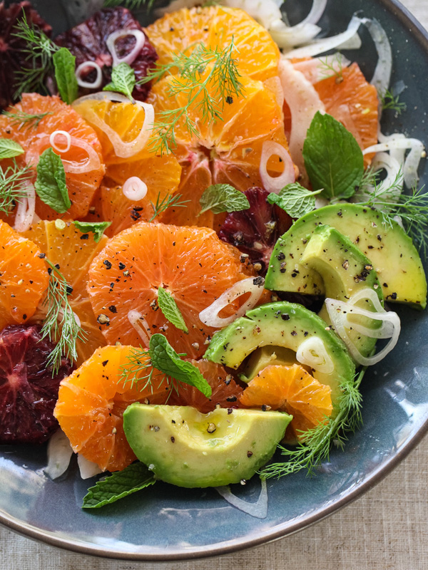 ... salad with meyer lemon vinaigrette fennel avocado and grapefruit salad