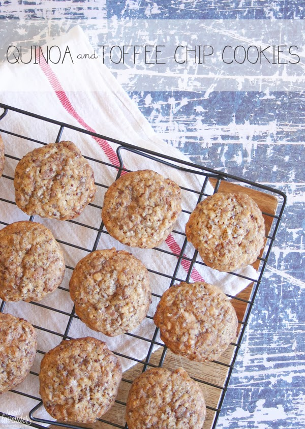 Quinoa and Toffee Chip Cookies- Title Pic
