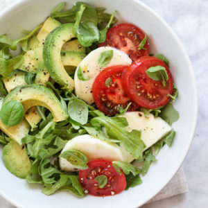 Avocado Caprese Salad Plus 5 Crunchy Avocado Salads