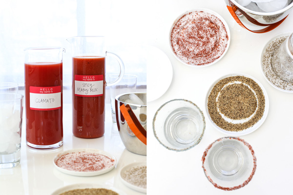 Make Your Own Bloody Mary Bar on foodiecrush.com