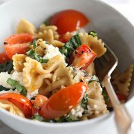 Fresh Tomato and Ricotta Whole Wheat Pasta on foodiecrush.com