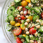 Quinoa Tabbouleh with Chickpeas and How to Become a Kitchen Knife Slayer