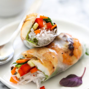 Grilled Shrimp Vietnamese Spring Roll on foodiecrush.com