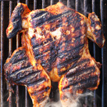 Thumbnail image for Chicken Grilled Under a Brick with Harissa