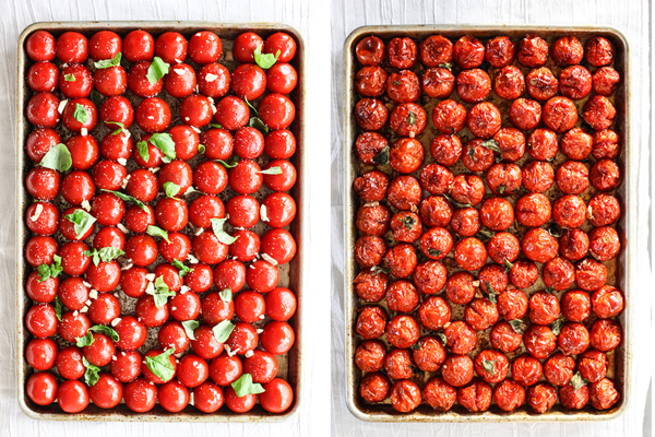 Simple Roasted Tomatoes #recipe on foodiecrush.com