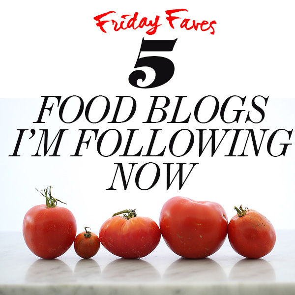 5 Food Blogs I'm Following Now Sept 14