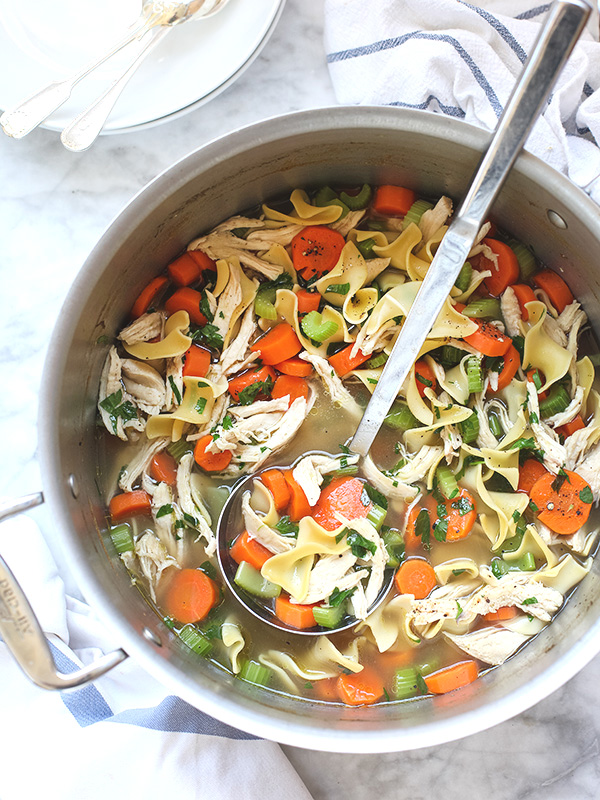 Homemade chicken noodle soup foodiecrush for How to make homemade chicken noodle soup