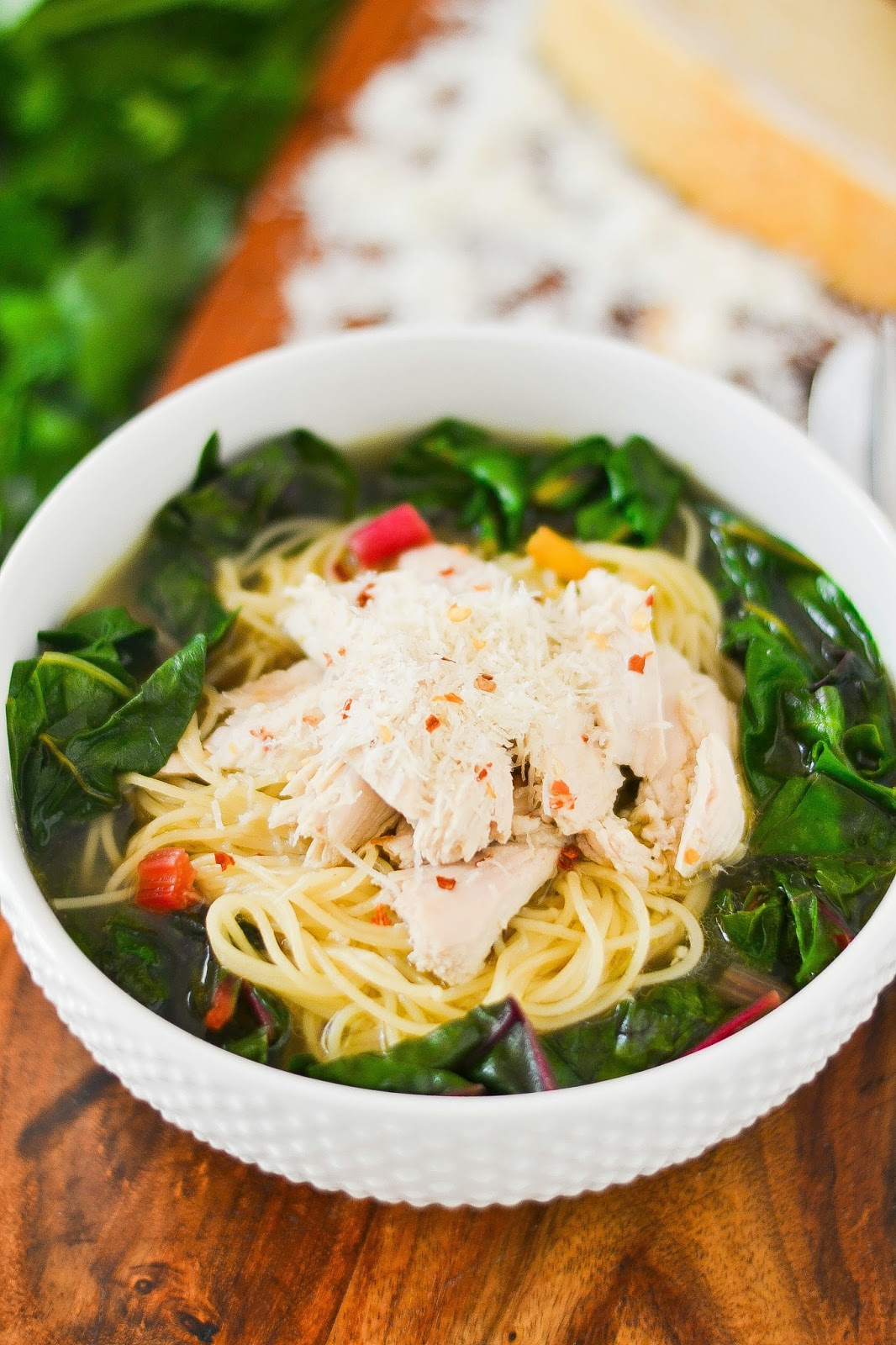 Italian Swiss Chard and Chicken Noodle Bowl 1 - retouched