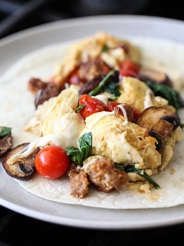 Scrambled Eggs and Sausage Breakfast Burrito Plus 5 More Recipes to ...