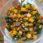Thumbnail image for Kale Salad with Butternut Squash, Chickpeas and Tahini Dressing