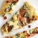 Thumbnail image for Maple Apples, Blue Cheese and Bacon Pizza