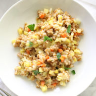 Sweet Corn, Gouda and Farro Risotto on foodiecrush.com