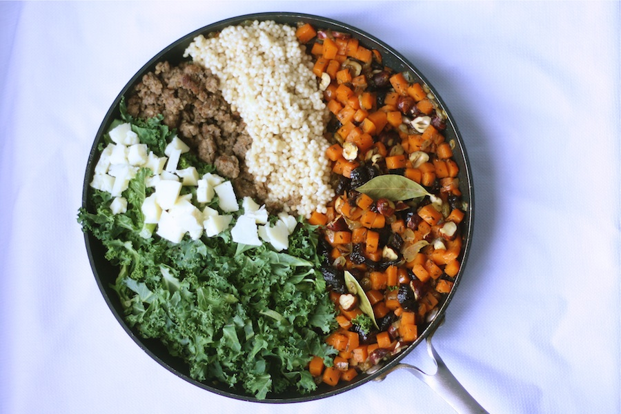 Thanksgiving Couscous with Butternut Squash, Sausage, Kale, Manchego ...