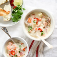 Fish Chowder With Copper River Salmon