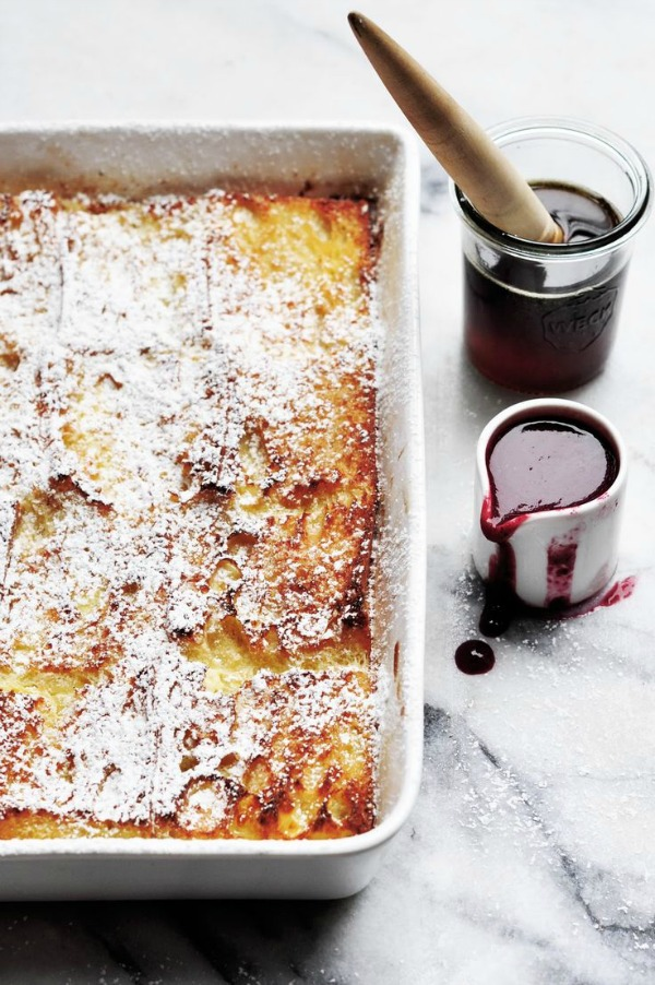 Baked Baguette French Toast from dashandbella.blogspot.com on foodiecrush.com