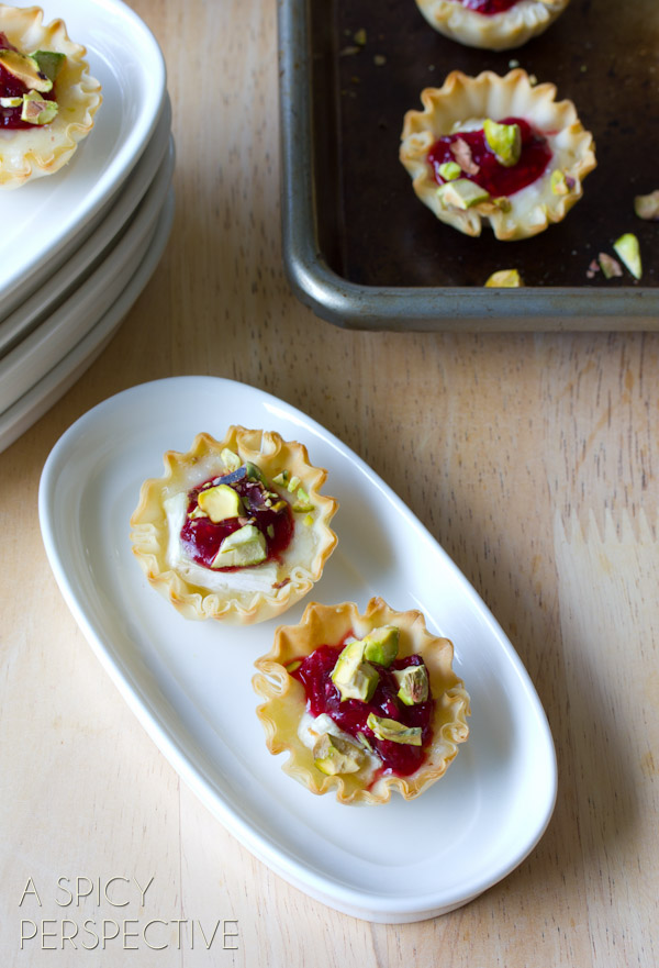 Baked Brie Bites from aspicyperspective.com on foodiecrush.com