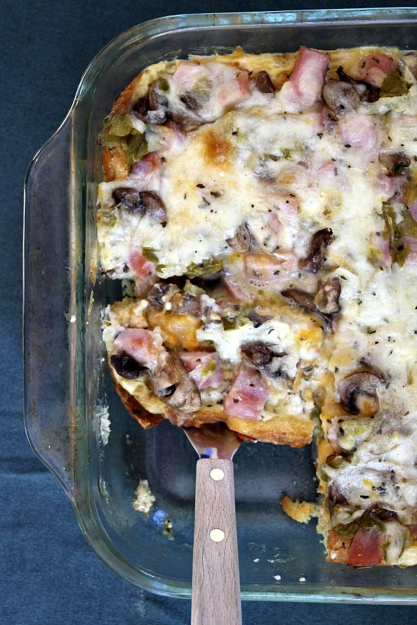 Overnight Ham and Cheese Bake from recipegirl.com on foodiecrush.com