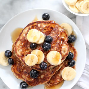 The Best Banana Bread Pancakes | foodiecrush.com