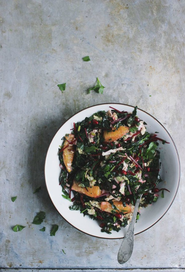 Chopped Kale Salad with Oranges and a Zesty Meyer Lemon Vinaigrette ...
