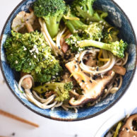 Broccoli and Shiitake Mushrooms With or Without Soba Noodles