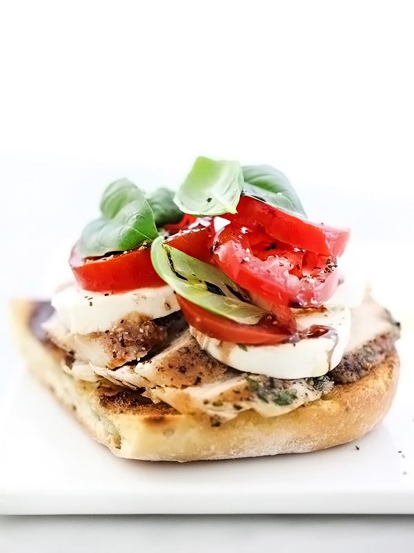 Chicken And Avocado Caprese Open Faced Sandwich Recipe ...