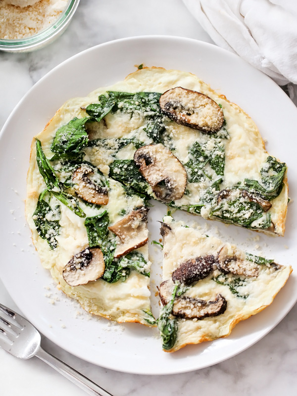 Spinach and Mushroom Egg White Firttata | foodiecrush.com