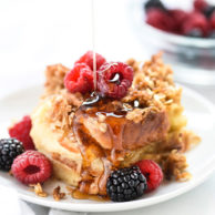 Coconut Baked French Toast With Oatmeal Crumble   foodiecrush.com