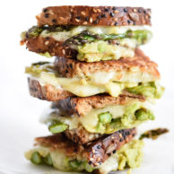 Spicy Smashed Avocado & Asparagus with Dill Havarti Grilled Cheese